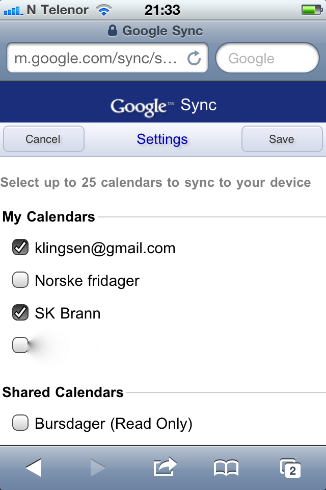 The calendars you selected should appear automagically in the calendar
