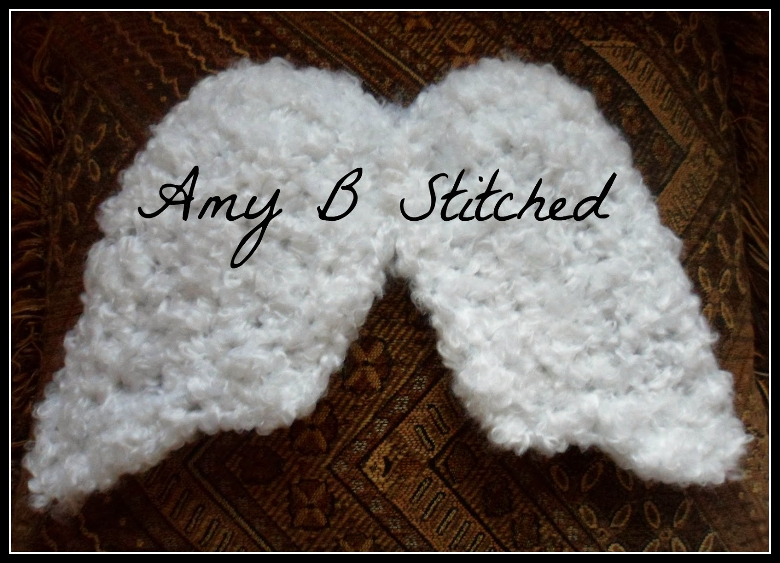 Crochet Baby Wings Pattern Free : A Stitch At A Time for Amy B Stitched: Newborn Angel Wings ...