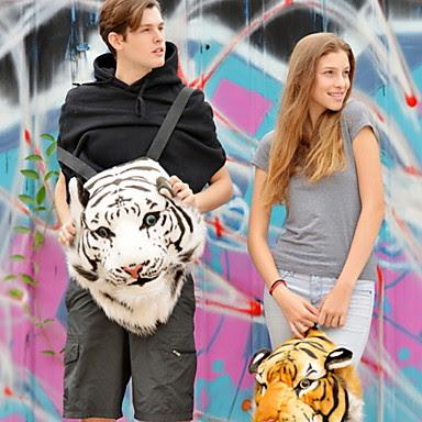 Mochila Peluche Tigre Blanco