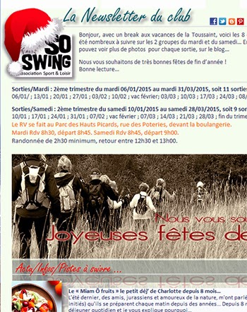 Newsletter club sportif 78