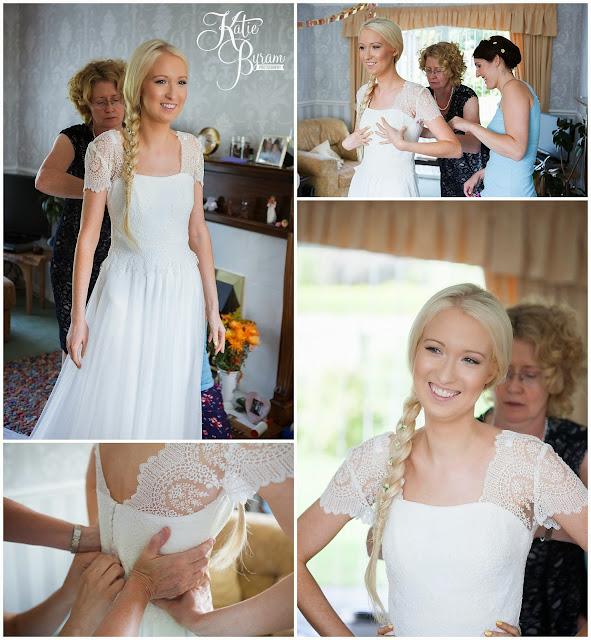 bride getting ready, camper van hire newcastle, wedding camper van northumberland, eshott hall, eshott hall wedding, morpeth wedding, katie byram photography, vintage wedding
