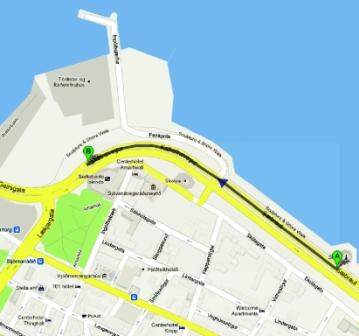mapa de solfarid y opera harpa de reykjavik
