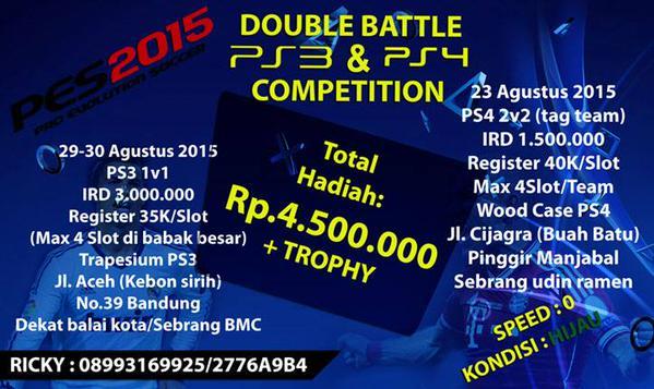 PES 2015 Tournament di Bandung Agustus 2015