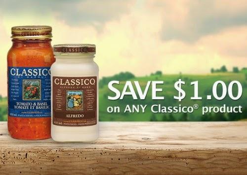 Save.ca Classico Pasta $1 Off Coupon
