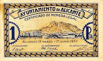 Billete Alicante 1937