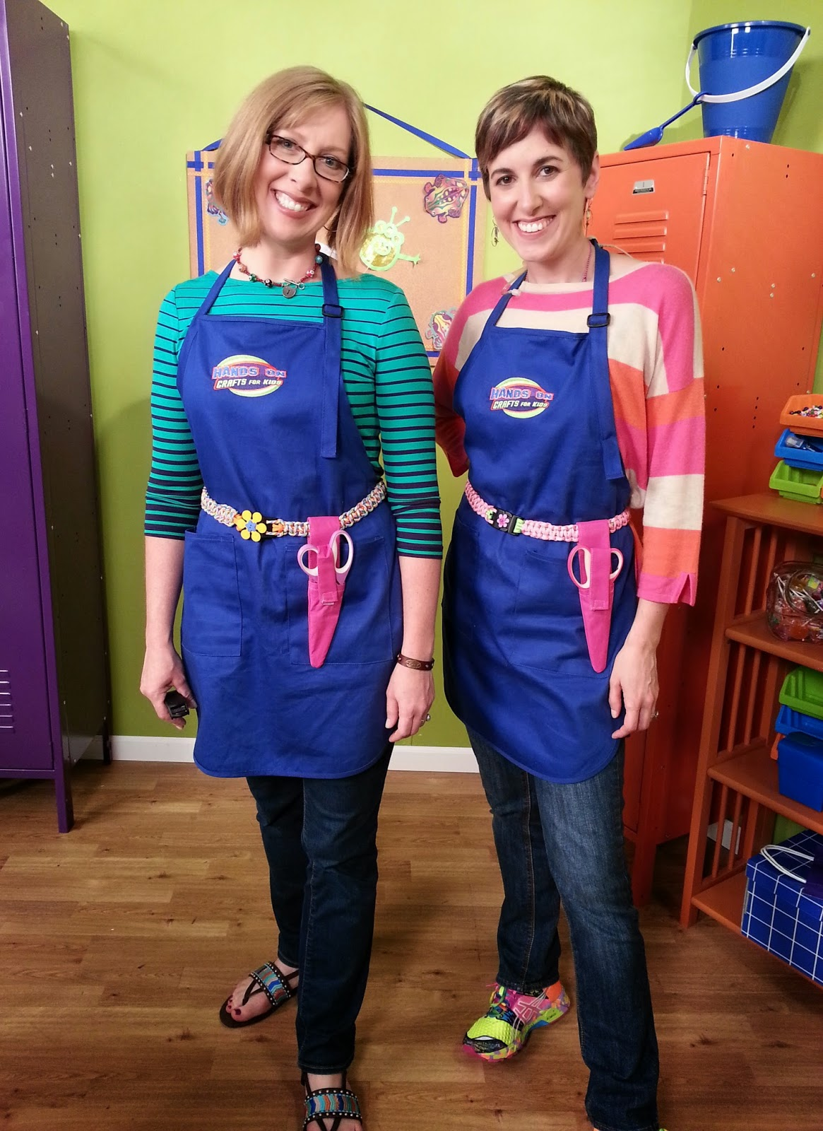 Katie and Candie Paracord belts - Photo courtesy of Hands On Crafts for Kids