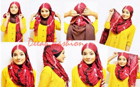 Cara Memakai Jilbab Praktis Terbaru