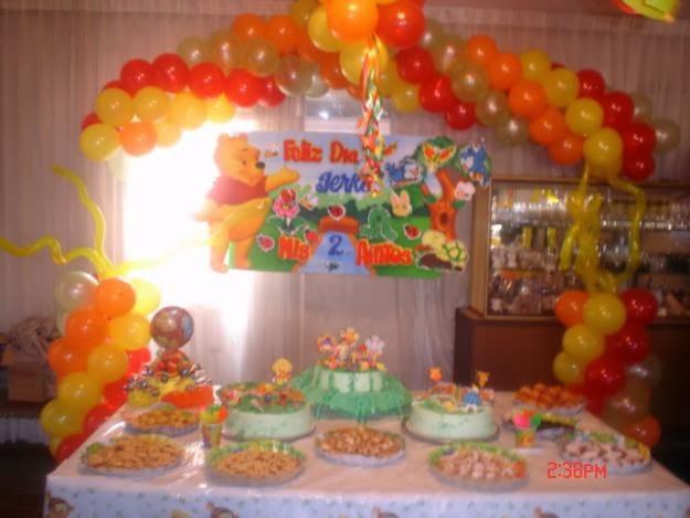 Decoraciónes de fiesta infantiles de Winnie Pooh - Imagui