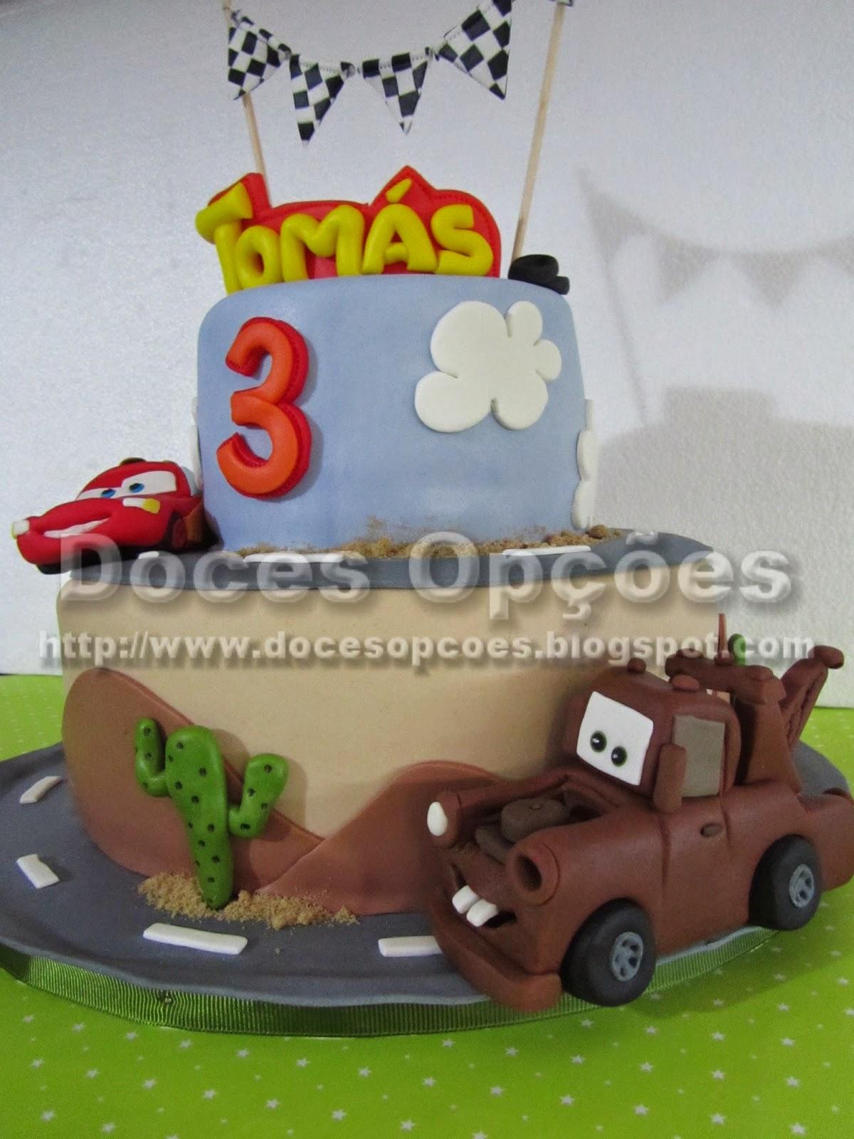 bolo aniversário mate carros