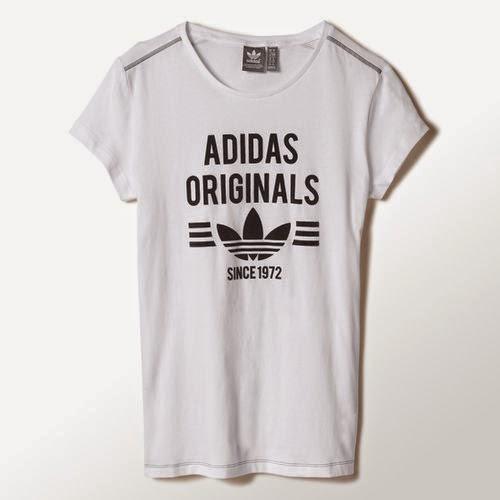 camiseta blanca de adidas de chica