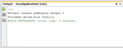 Contoh Syntax Finally Exception