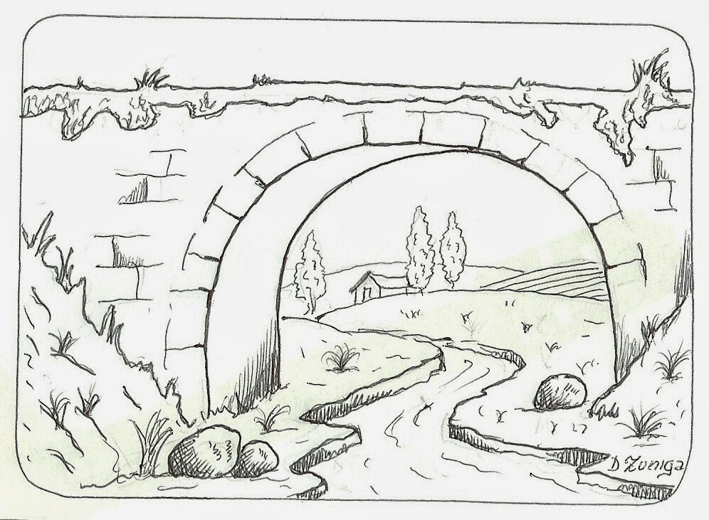 Jardin Escolar Paisajes  Dibujos para colorear