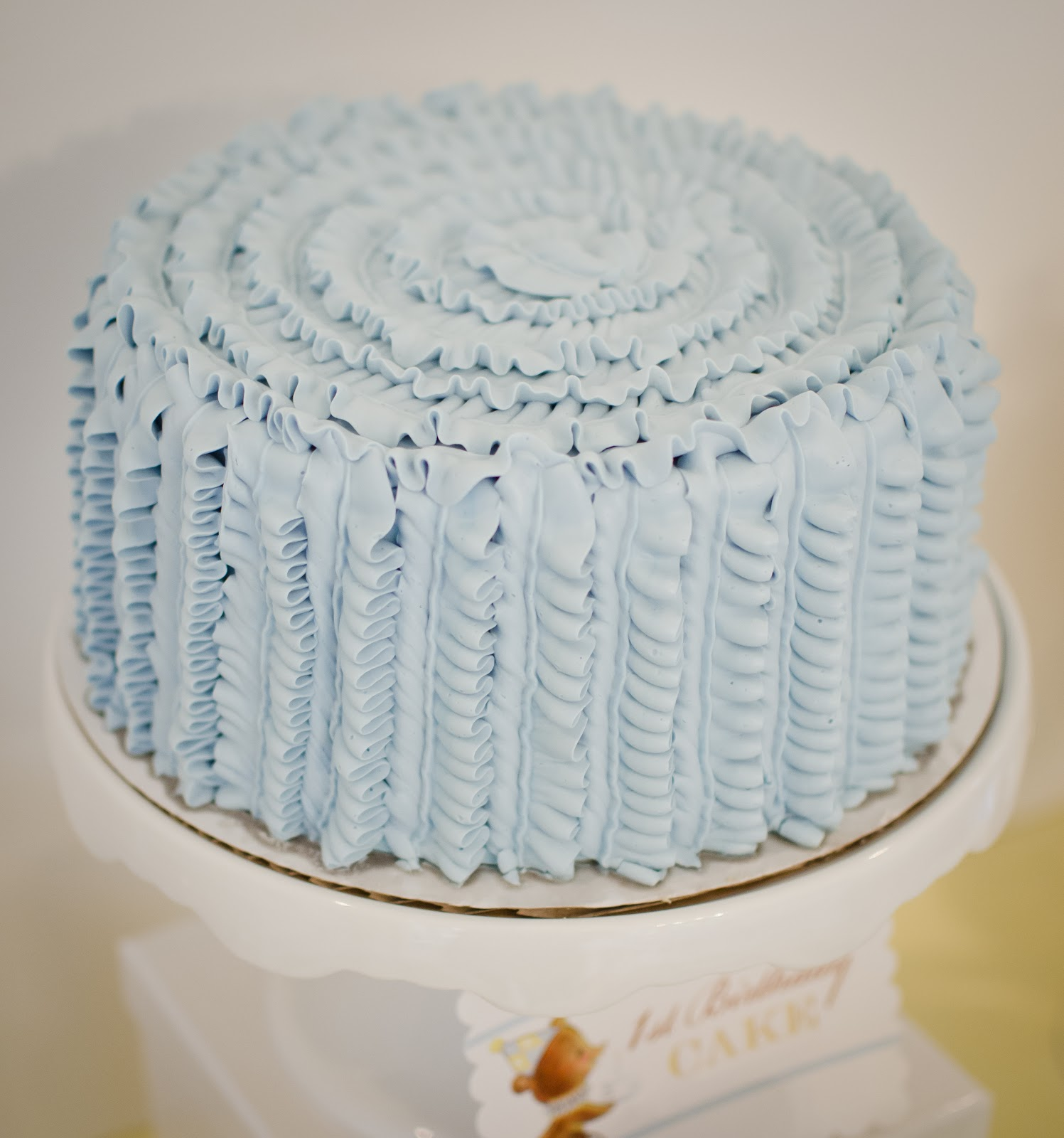 How To Make Vertical Ruffles On A Cake