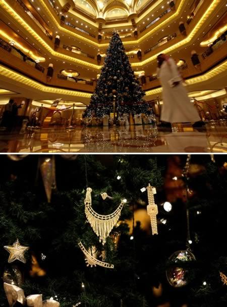 3 El arbol de navidad mas caro del mundo-Emiratos Arabes Unidos