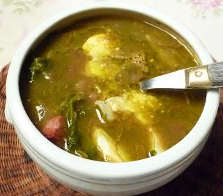 De soep ziet er niet echt mooi uit maar smaakt des te beter jamie