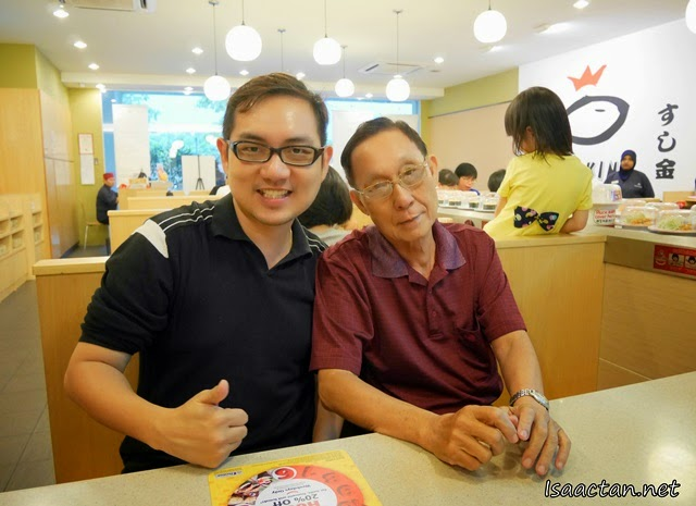 A shot with dad at Sushi King