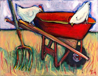 Red wheelbarrow, poem, writing advice