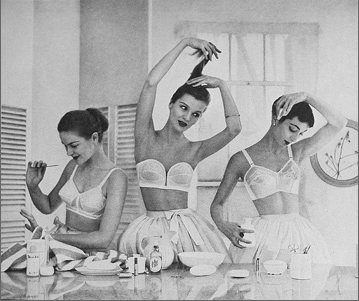 50s lingerie - bullet bra