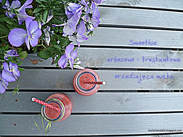 Smootkie arbuz - truskawka - mięta