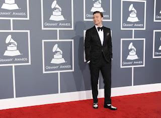 Justin Timberlake tuxedo Grammys 2013