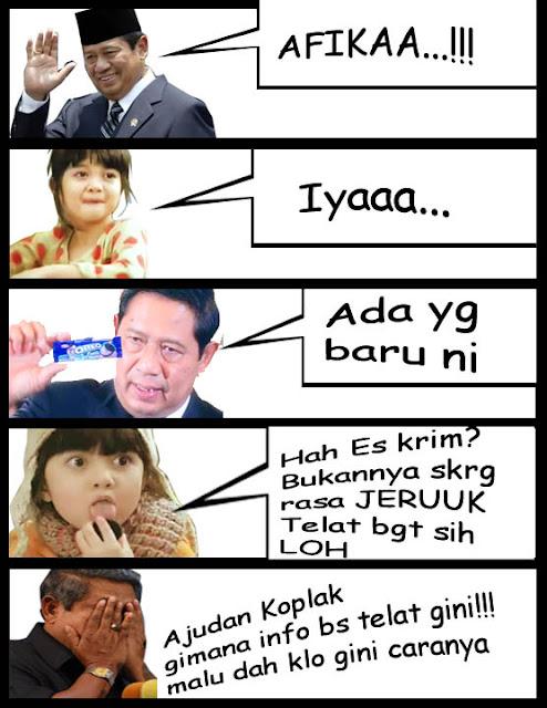 Komik Afika vs SBY 2