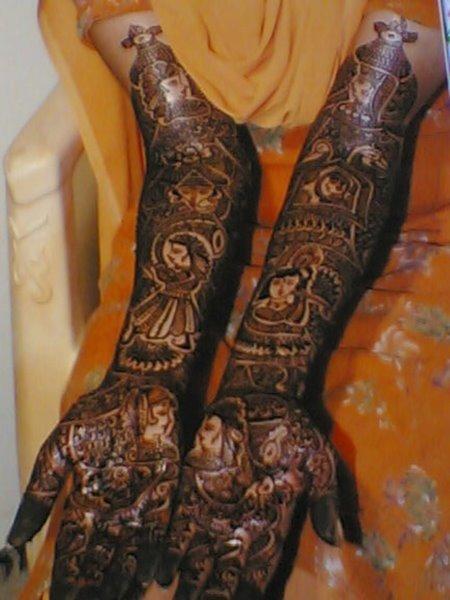 Mehndi Designs Dulha Dulhan : Bridal mehndi dulha dulhan
