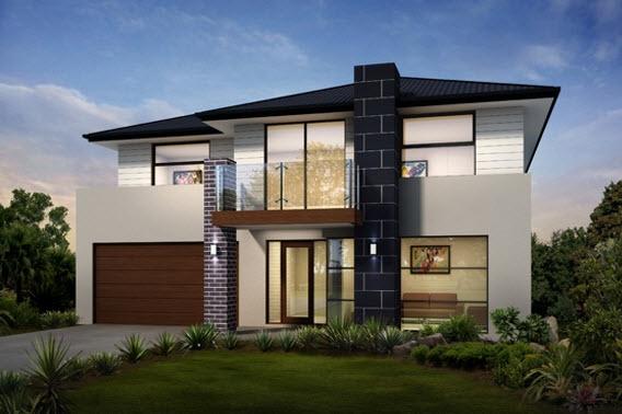 Dise o y planos de casas de dos pisos con ideas para for Los mejores techos de casas