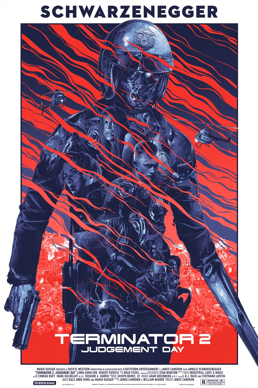 Terminator 2: Judgment Day Standard Edition Screen Print by Grzegorz Domaradzki