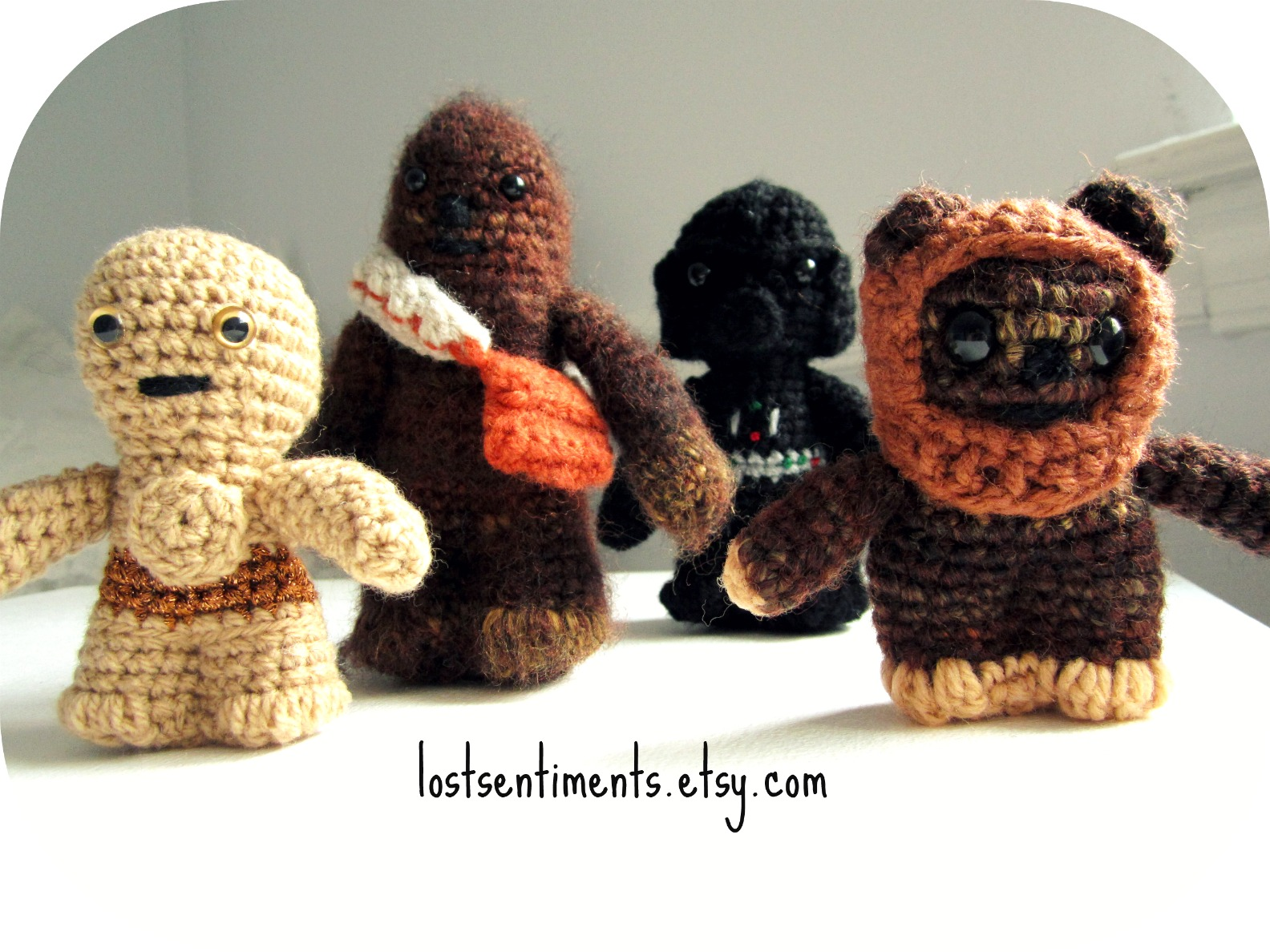Amigurumi Star Wars Patterns : Lostsentiments: star wars amigurumi set headed overseas