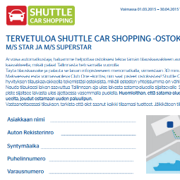 TallinkSilja, Shuttle Car Shopping, Tallinna Tutuksi,