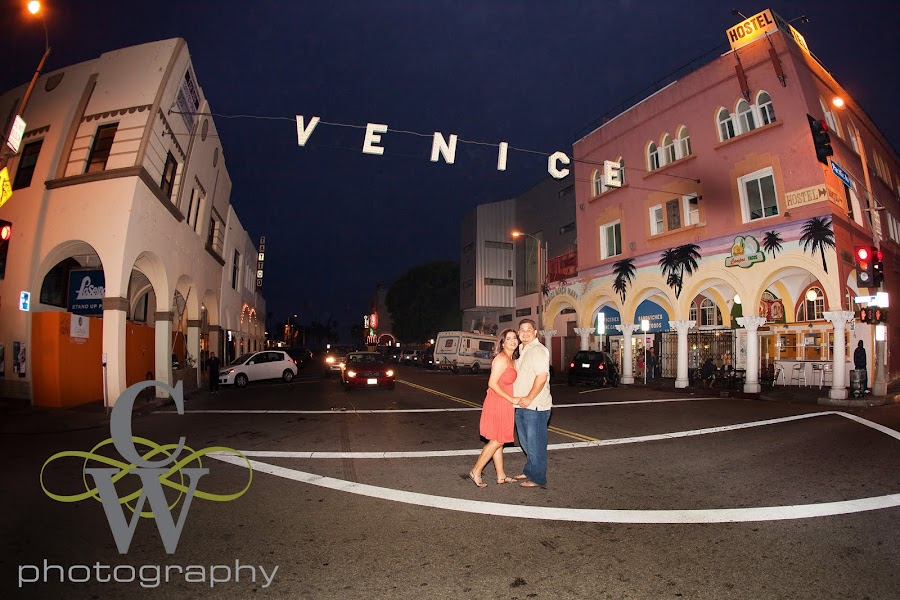 Venice beach engagement portrait