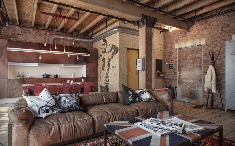 Let 39 s stay cool industrial loft design - Loft industrial ...