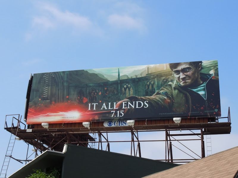 Harry Potter It All Ends billboard