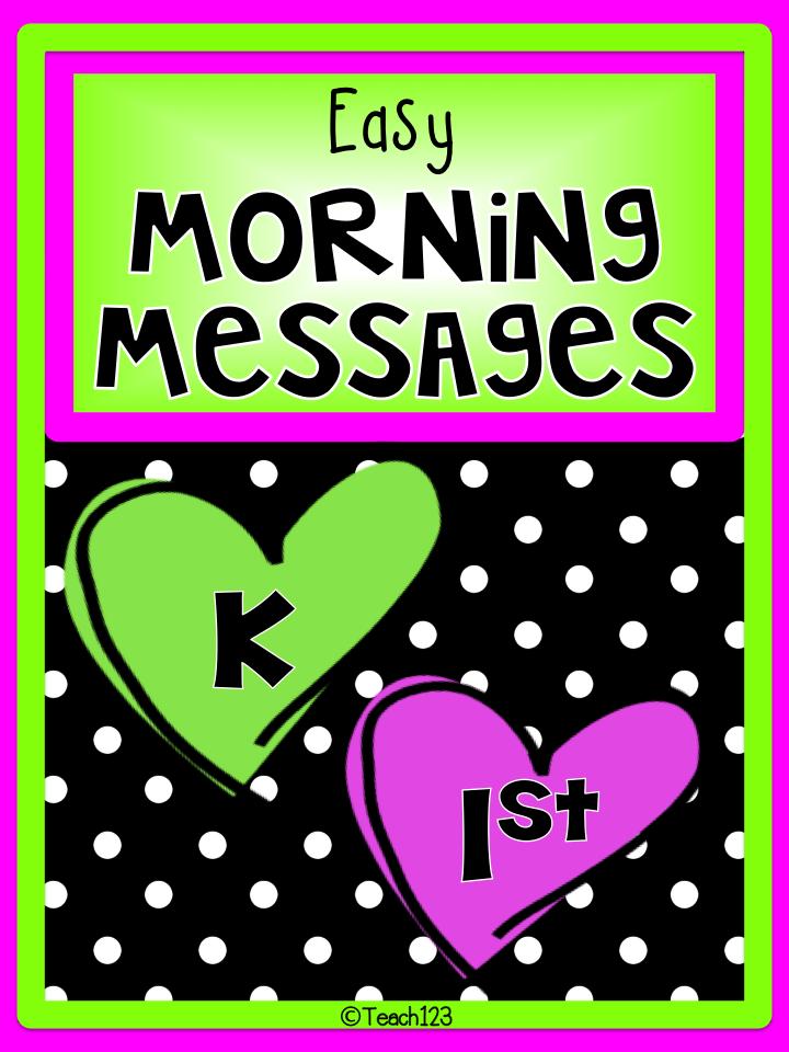 Morning Messages: K & 1st