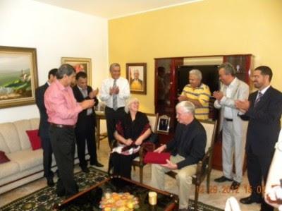 Embaixador palestino- homenagem aos pais de Rachel Corrie