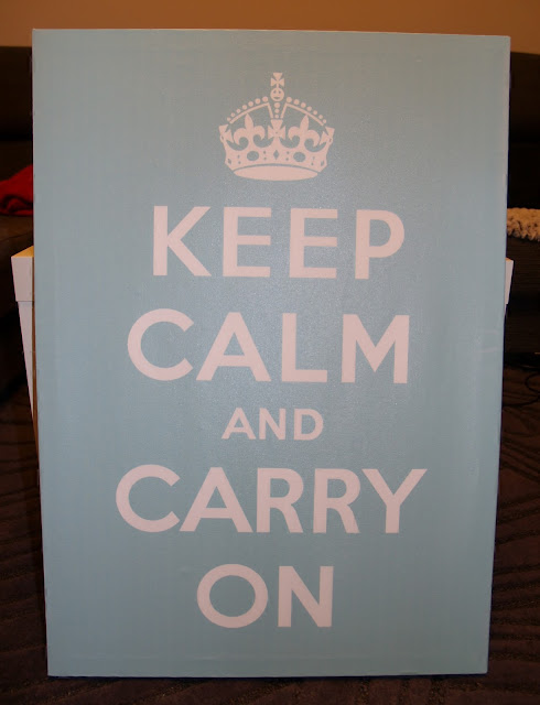 cuadro keep calm and carry on