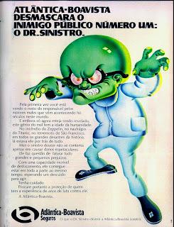 propaganda Atlântica Boavista Seguros - 1973.  1973; os anos 70; propaganda na década de 70; Brazil in the 70s, história anos 70; Oswaldo Hernandez;