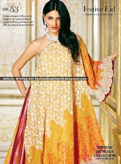 Gul Ahmed Festive Eid Limited Collection 2015-2016 [Trencia Satin Silk]