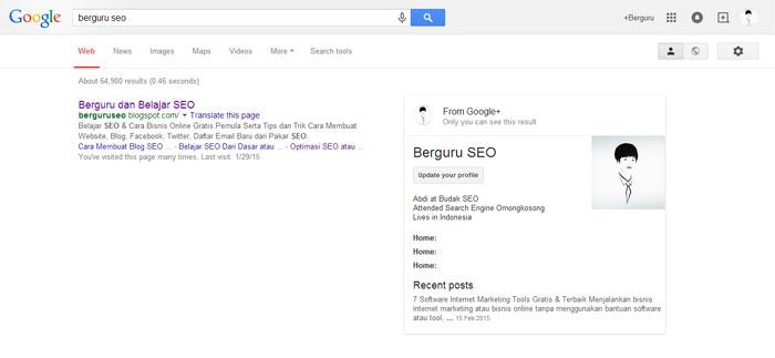 website kita bisa tampil di halaman pertama Google  Cara Agar Blog / Web Terindex & Muncul di Halaman Pertama Google