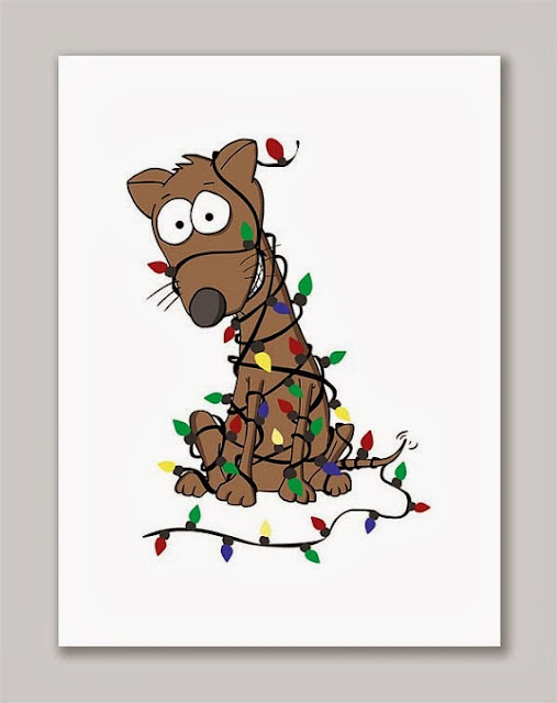 https://www.etsy.com/listing/115690115/brown-dog-tangled-up-in-christmas-lights