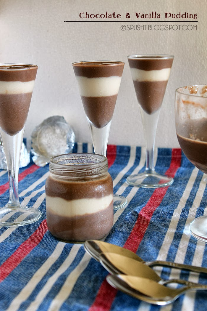 Spusht | Layered Vanilla and Chocolate Pudding