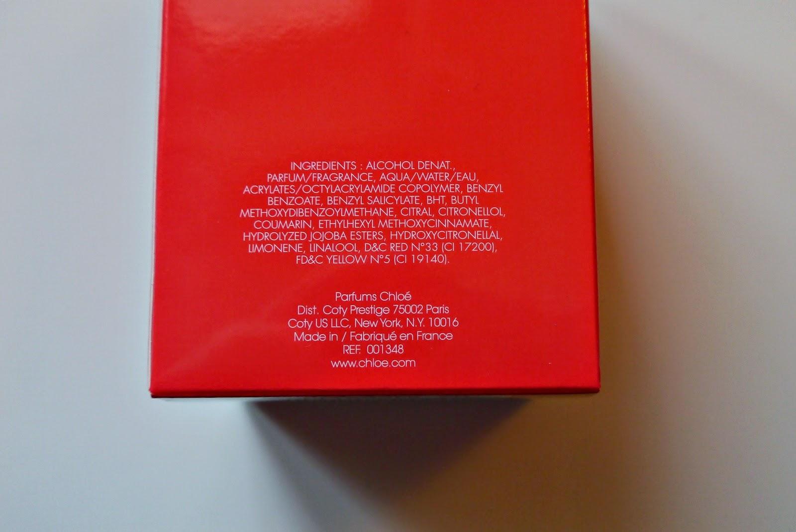 skład perfum see by chloe