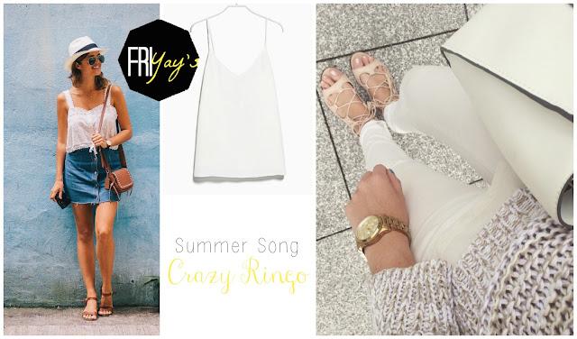 TheBlondeLion Friyays Mango Apairandaspare Denim Skirt Zara Sale Summer Song