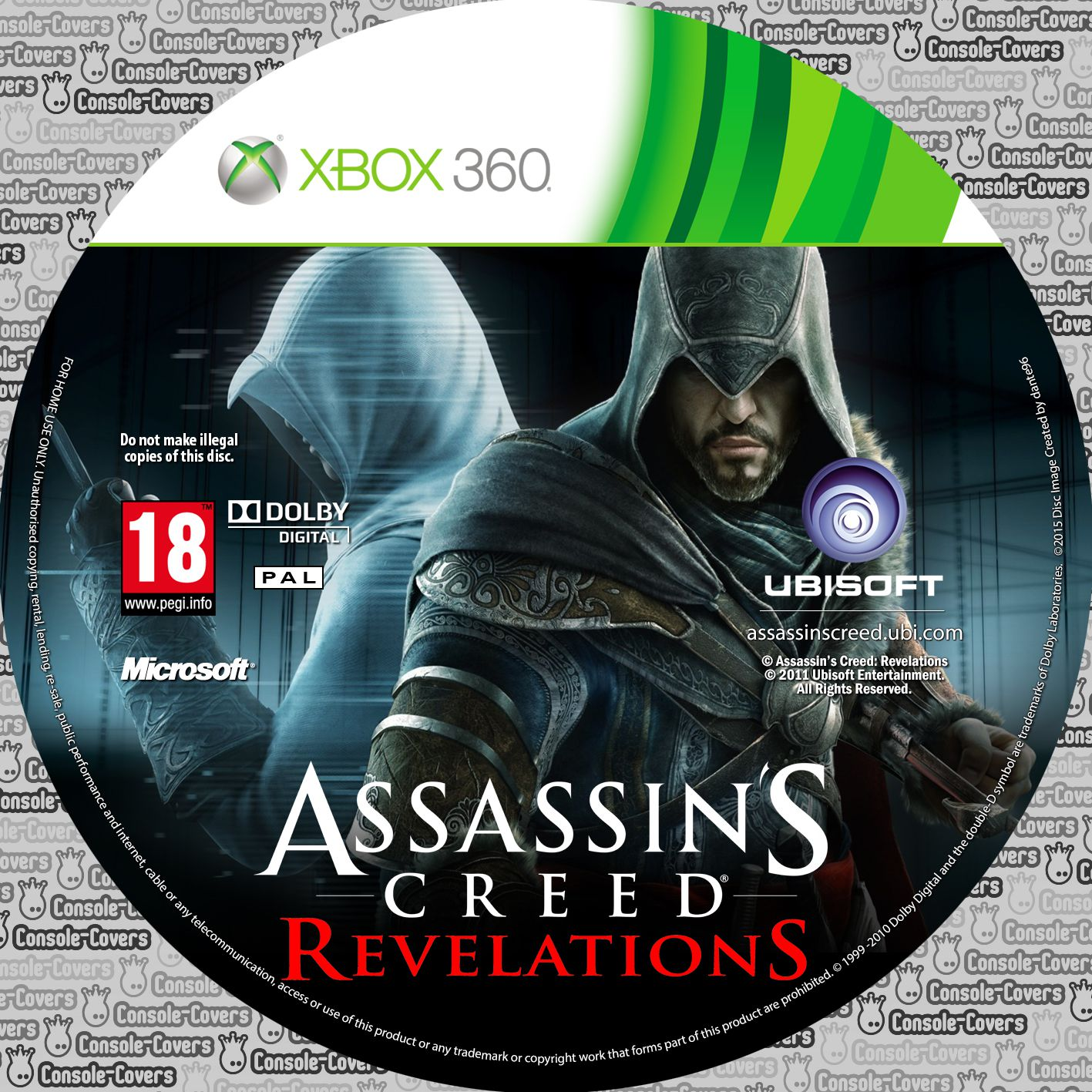 Label Assassins Creed Revelations Xbox 360