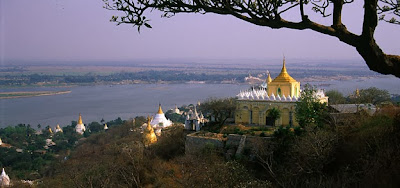 golden temples on the Sagaing Hills