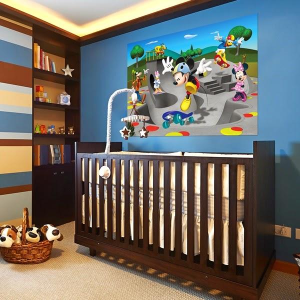 Papel pintado fotomurales disney mini for Mural habitacion juvenil