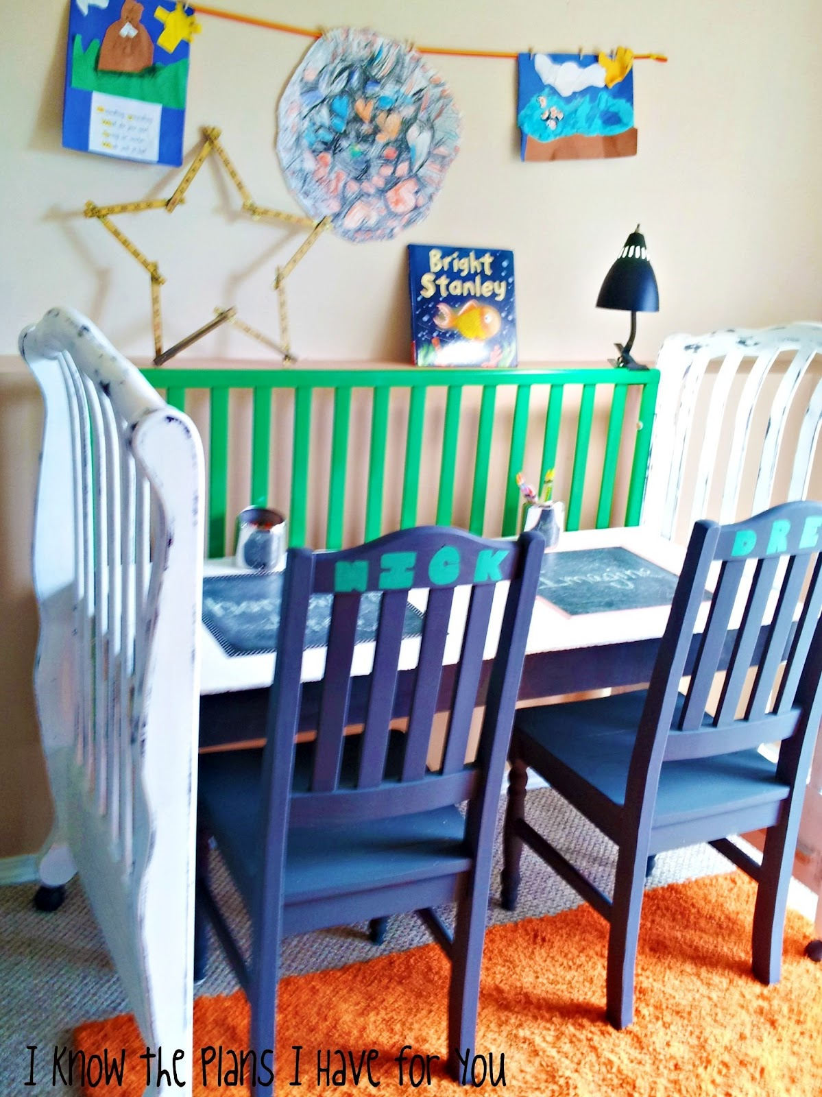 i know the plans i have for you crib turned craft station