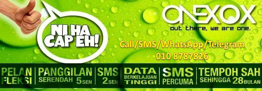 ONEXOX - Call Murah, Internet Laju,Tempoh Sah 28 Bulan,FREE SMS