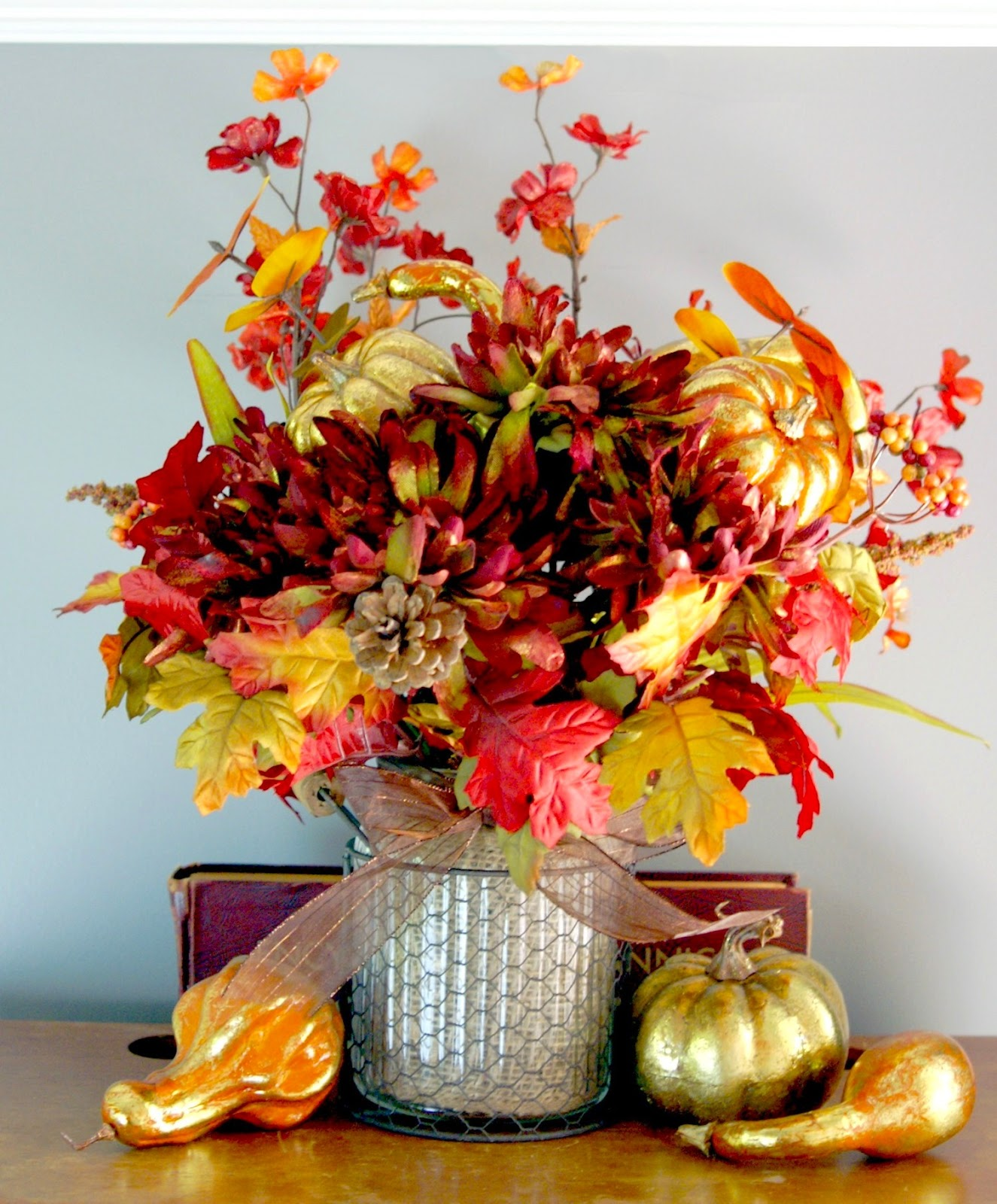 Fall harvest wreath centerpiece do more for less