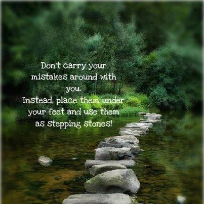 dont carry your mistakes around with you - Inspirational Positive Quotes with Images